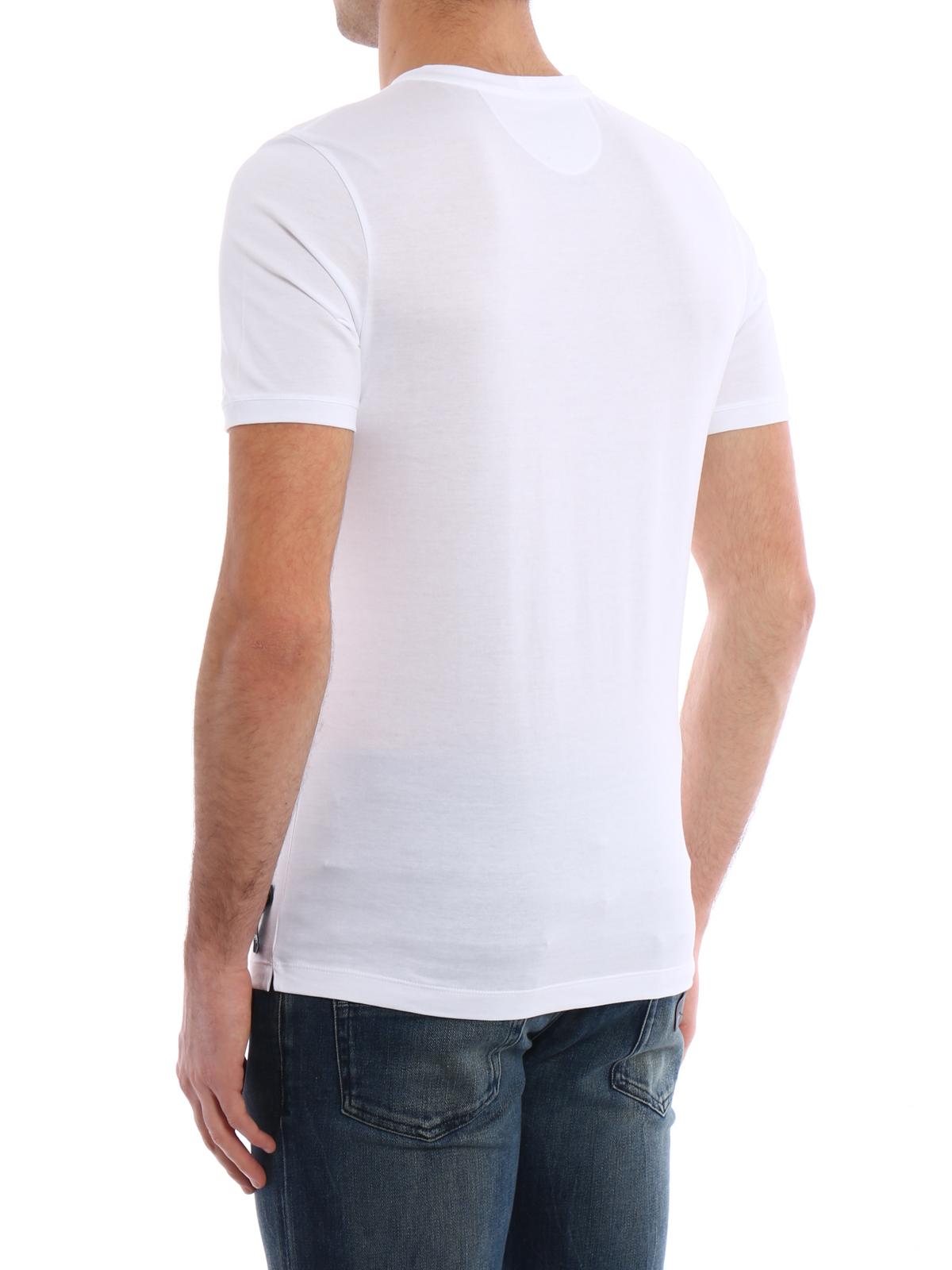 Fendi Monster Eye Rhinestone T Shirt T Shirts FY0682