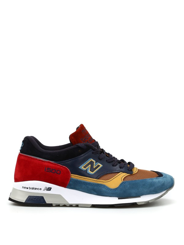 New Balance - 1500 suede and mesh sneakers - trainers ...
