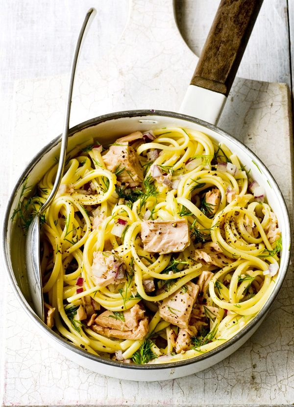 Linguine Recipe with Tuna, Lemon and Dill