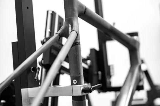 ENVE Custom road bike construction shot