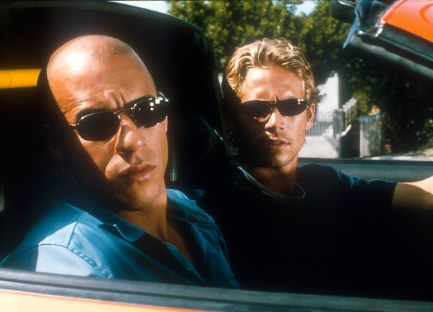 Vin Diesel (L) and Paul Walker in The Fast and the Furious