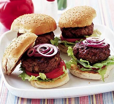 Beef burgers - learn to make recipe | BBC Good Food