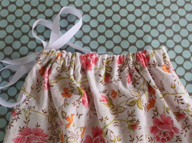 a drawstring bag from a pillowcase