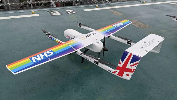 Drones to carry COVID-19 samples between hospitals © Annalisa Russell-Smith/PA