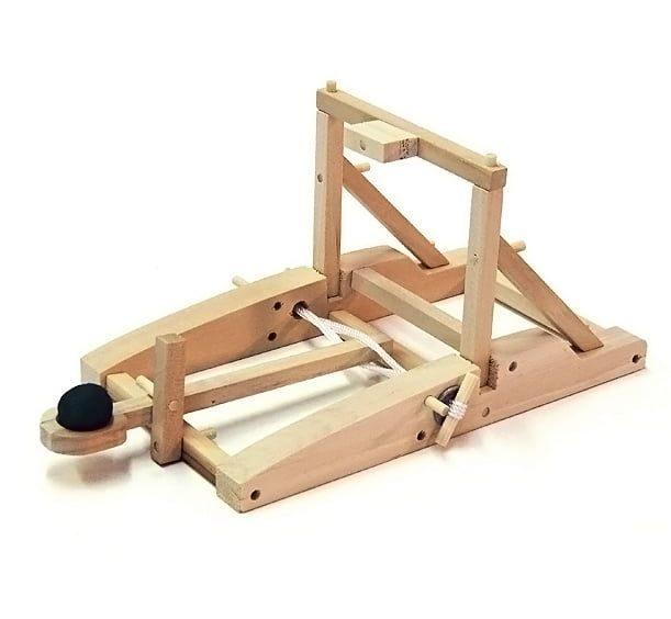 medieval catapult wooden kit