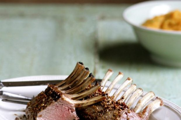 Spiced autumn lamb with butternut squash purée