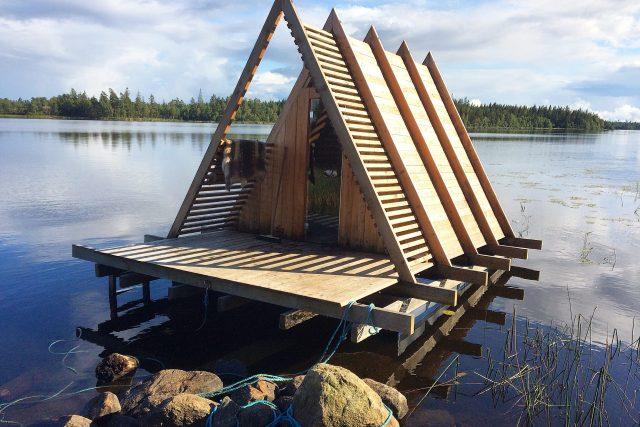 Floating Sauna at Stedsans in the Woods, Sweden