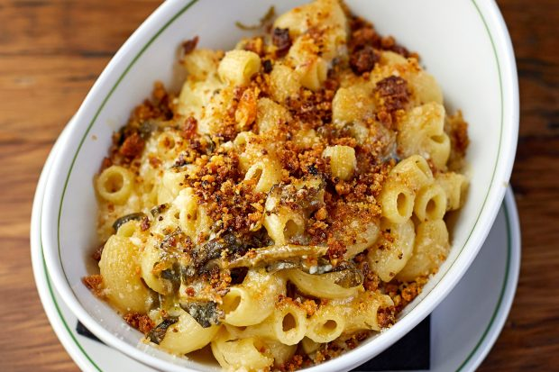 Macaroni and Cheese With Greens Recipe