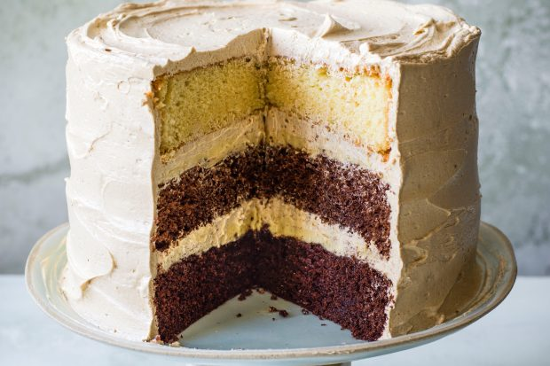 Chocolate Layer Cake Recipe with Chai Ganache