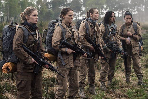 Gina Rodriguez, Jennifer Jason Leigh, Natalie Portman, Tessa Thompson and Tuva Novotnyin Annihilation from Paramount Pictures and Skydance.