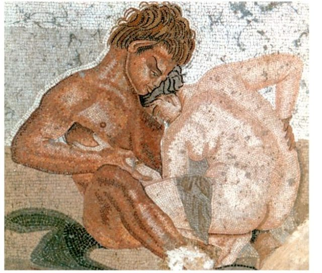 Wall Painting From The House Of The Faun Built During The 2nd Century Bc In