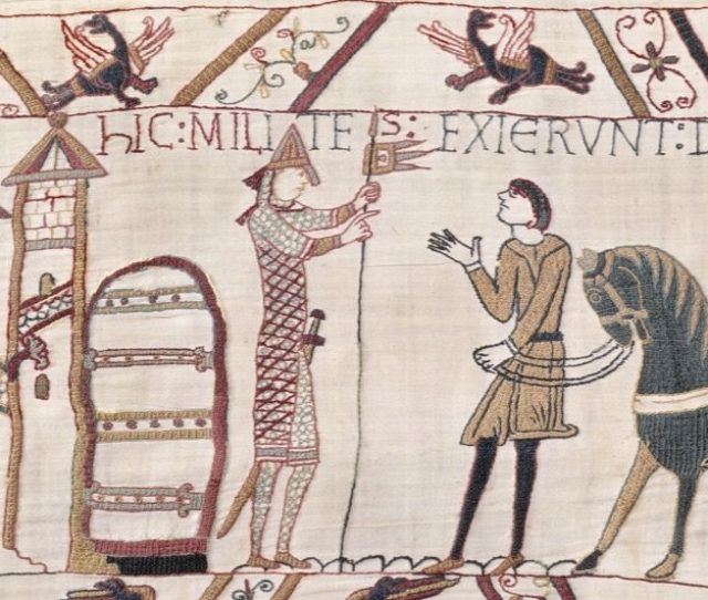 Fig 4 The Largest Equine Penis In The Bayeux Tapestry Belongs To The Horse Presented