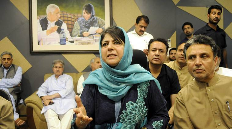 BJP protests against Mehbooba Mufti for saying Centre 'engineering' split in party