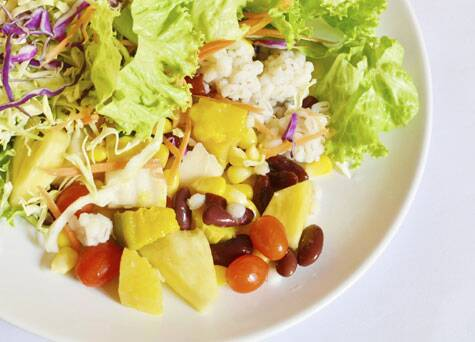 Pic only for representational purpose: Pineapple and feta salad | Source: Thinkstock Images