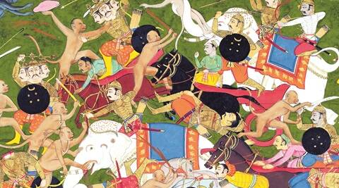A fascinating feature of the Jain versions of the Ramayana is the treatment of Ravan. In fact, he isn't even a rakshasa as popularly understood; like Hanuman and the other vanaras, he, too, is a vidyadhar, only he belongs to the rakshasa lineage.