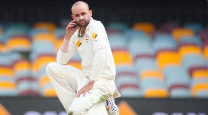 Nathan Lyon caused a 30 minute delay