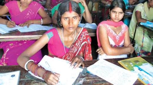 women education, woman dumped for studying, woman stays at exam centre, woman stays at exam centre with baby, Udakishanganj Higher Secondary College, indian express, india news
