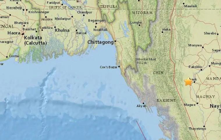 Myanmar earthquake USGS