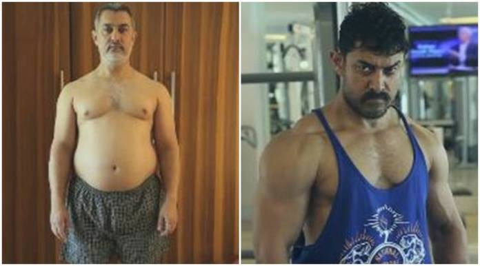 Image result for Fat To Fit Aamir Khan Body Transformation Dangal