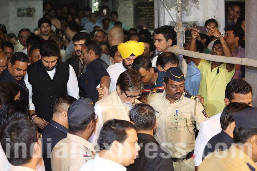 Image result for om puri funeral