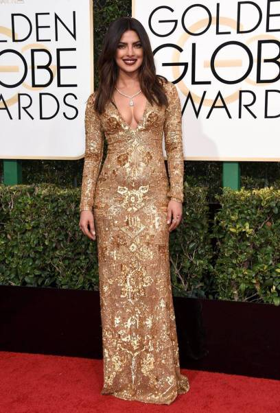 Image result for best looks at at golden globe 2017 priyanka chopra