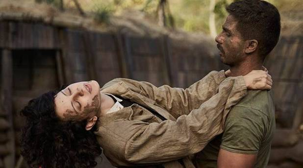 Rangoon review, rangoon movie review, Rangoon, Kangana Ranaut, Shahid Kapoor, Rangoon still, Rangoon image