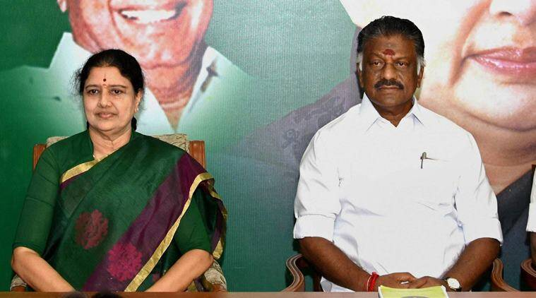 Image result for sasikala and panneerselvam