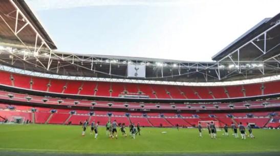 Image result for premier league 2017 Spurs' Wembley