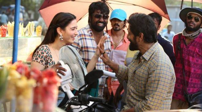 Sketch behind-the-scenes: Vikrams upcoming film with Tamannaah is shaping up well. See pics