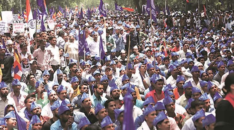 bhim army. bhim army protest, Chandrashekhar Azad, Saharanpur violence,