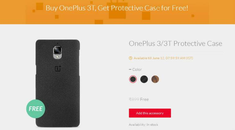 OnePlus 3T, OnePlus 3T free protective case, OnePlus 3T price in India,