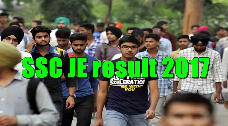 ssc.nic.in, ssc je, ssc je result, JE result 2017
