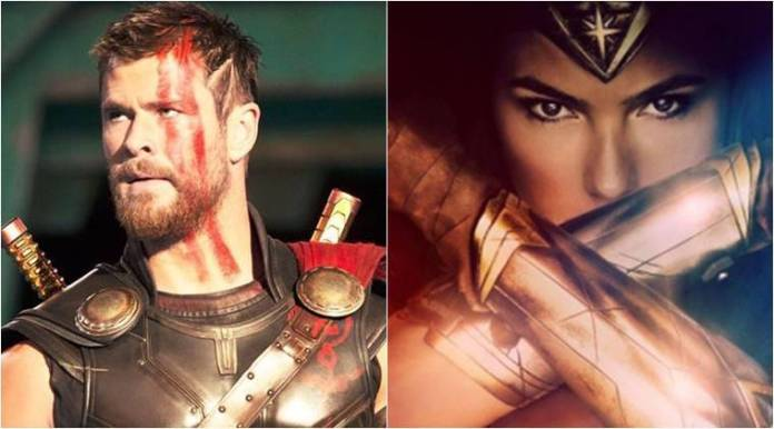 gal gadot, wonder woman, thor, chris hemsworth, wonder-woman thor