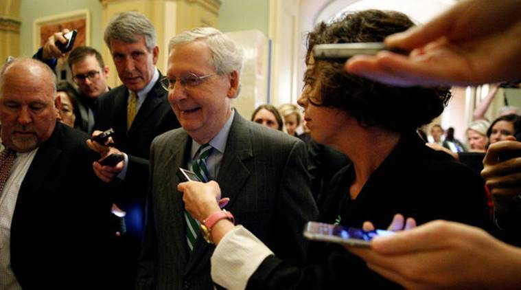 Image result for photos of senators on rollout of latest healthcare bill