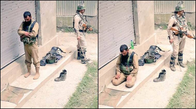 'Brothers-in-arms for peace': CRPF shares image of jawan offering namaz while another stands guard