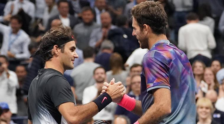 Image result for juan martin del potro vs roger federer us open 2017