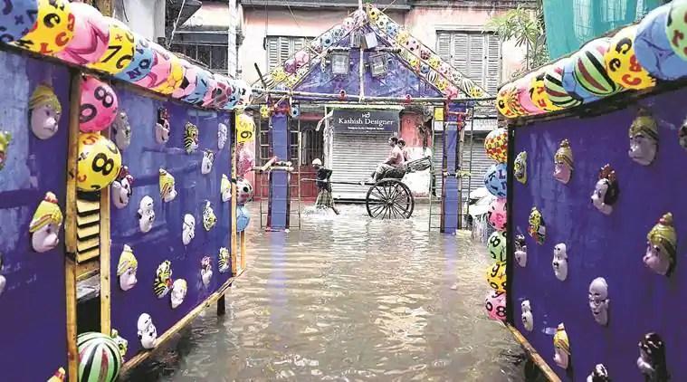 kolkata rain, heavy rainfall prediction calcutta, kolkata weather today, kolkata weather prediction, bay of bengal depression, south bengal, met dept, gangetic bengal, kolkata news, indian express