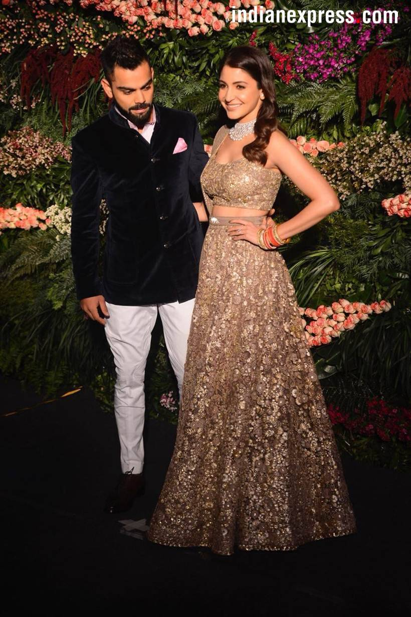 virat kohli anushka sharma wedding reception photos