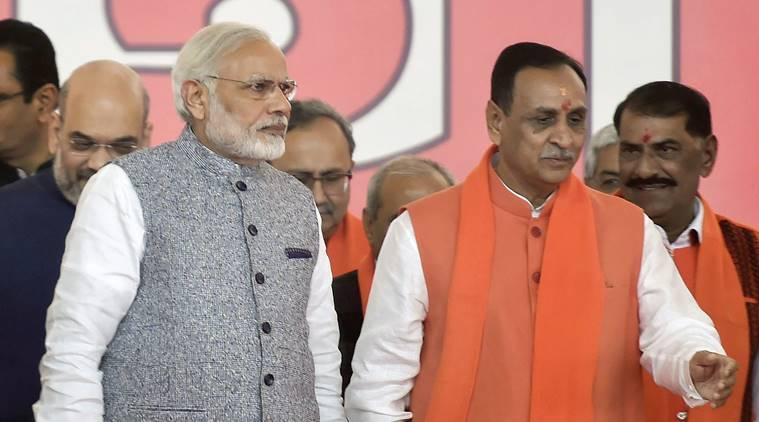 PM Modi and Vijay Rupani