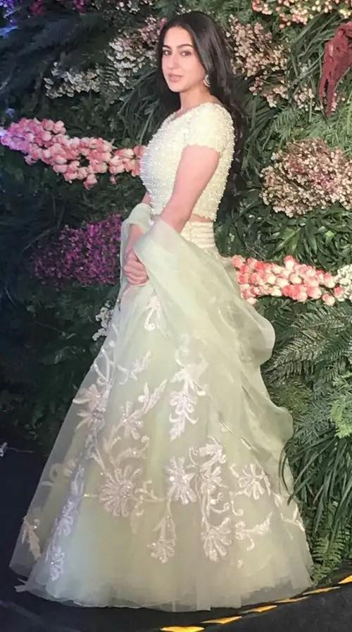 sara ali khan at virushka reception
