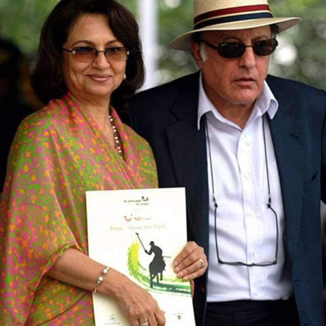 Sharmila Tagore and Mansoor Ali Khan Pataudi.