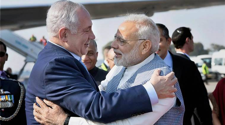 Image result for Netanyahu pays maiden visit to India