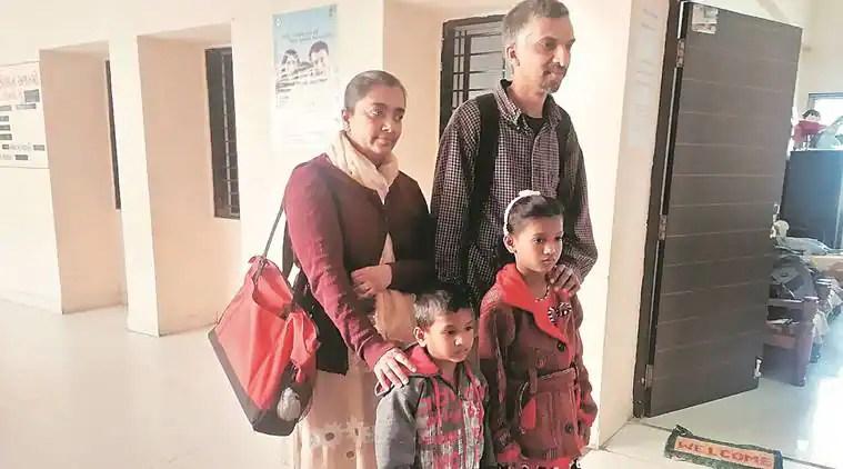 nri adoption, us couple adopts indian baby, navsarim gujarat, indian orphanage adopt, indian express