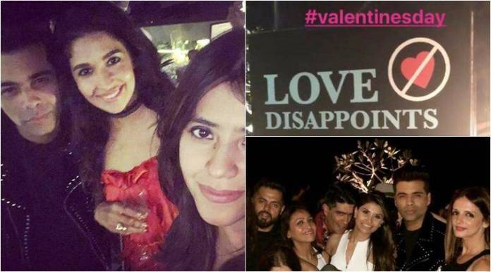 karan johar singles party on valentines day