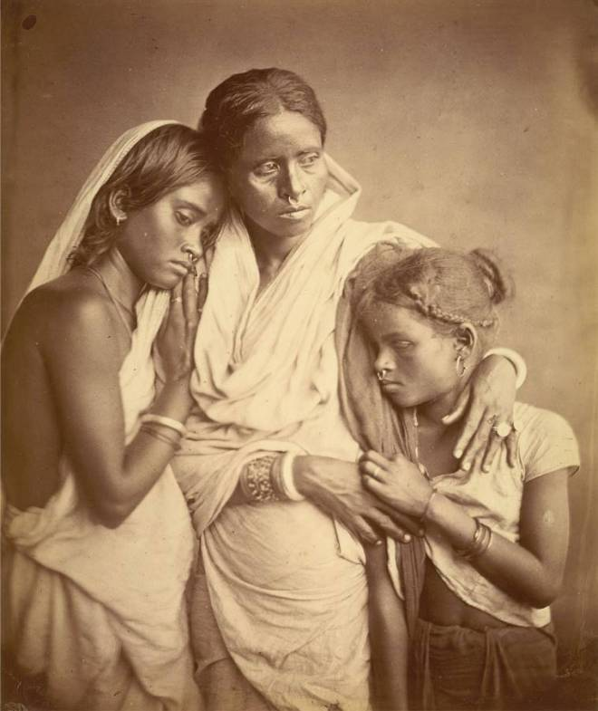 mother and two daughters in eastern bengal