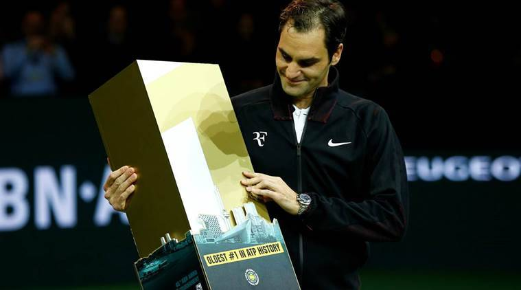 Roger Federer became the oldest tennis player to become top rank.