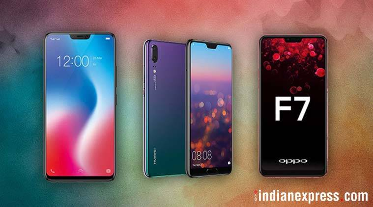 Huawei P20 Pro Oppo F7 Vivo V9 OnePlus 6 Top Android