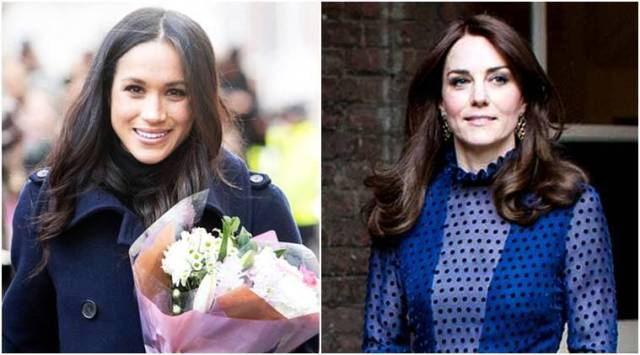 Kate Middleton and Meghan Markle colour coordinate in blue during first official appearance