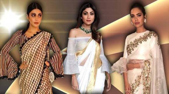 Go for trumpet sleeve blouse to add some oomph to your traditional look: Esha Gupta, Shilpa Shetty, Shruti Haasan show us how