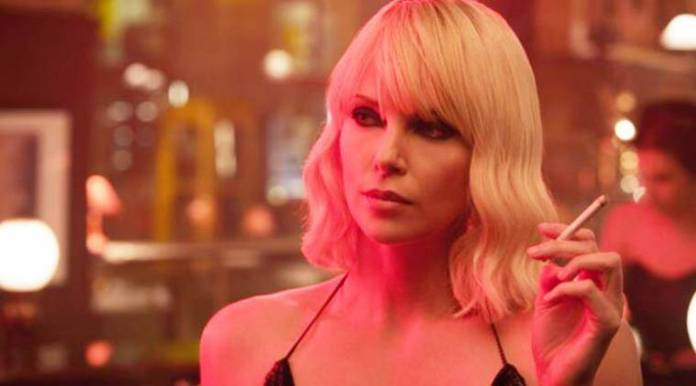 Charlize Theron in a still from Atomic Blonde
